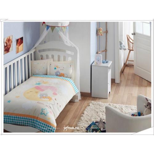 Детское белье в кроватку TAC Little Cat (желтое)