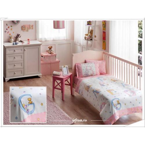 Детское белье в кроватку TAC Sweet Animals (розовое)