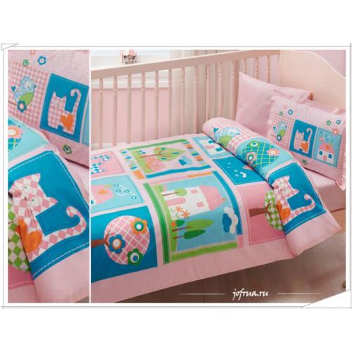 Детское белье в кроватку TAC Sweet Home (розовое)