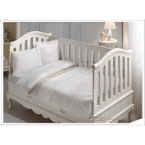 Детское белье в кроватку Tivolyo Happy (бежевое)