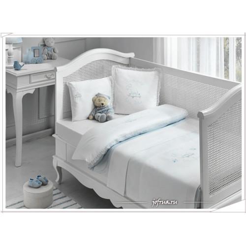 Детское белье в кроватку Tivolyo Happy (голубое)