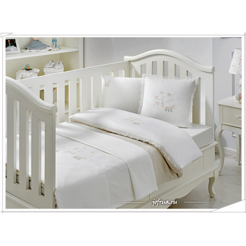 Детское белье в кроватку Tivolyo Stork (бежевое)