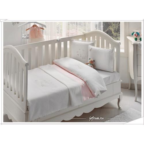 Детское белье в кроватку Tivolyo Stork (розовое)
