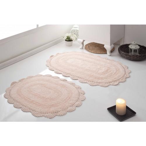 Набор ковриков для ног Modalin Diana (абрикосовый) 50x80+45x60
