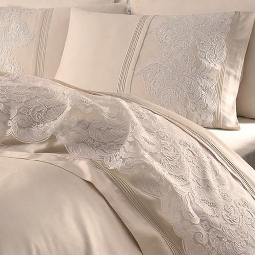 Свадебное постельное белье Gelin Home Elmas (шампань) евро