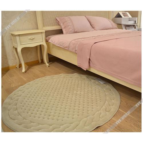 Коврик для ног Gelin Home Erguvan бежевый 120 см. (круглый)