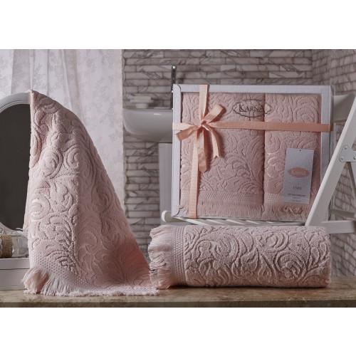 Набор полотенец Karna Esra (абрикосовый, 2 предмета)
