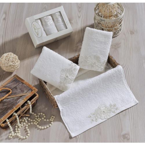 Набор салфеток Irya Fleur (молочное) 30x50 (3 шт.)