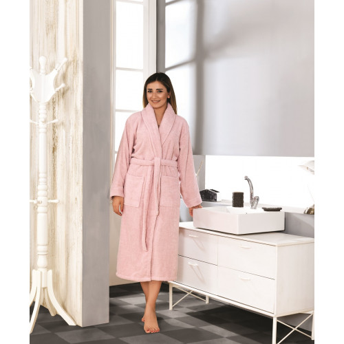 Karna Basic халат махровый (розовый)