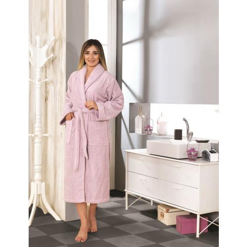 Karna Basic халат махровый (сиреневый)