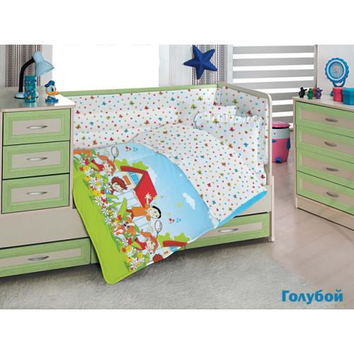 Детское белье в кроватку Altinbasak Happy Kids (голубое)