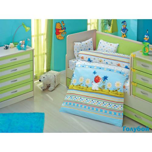 Детское белье в кроватку Altinbasak Gulucuk Песик (голубое)