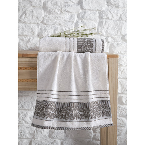 Полотенце Karna Mervan (кремовое)