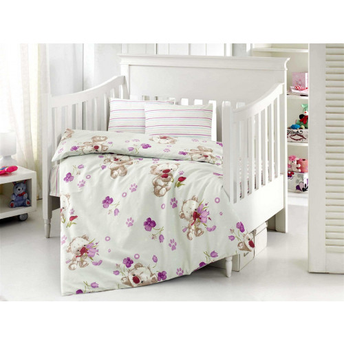 Детское белье в кроватку Altinbasak Puffy (кремовое)