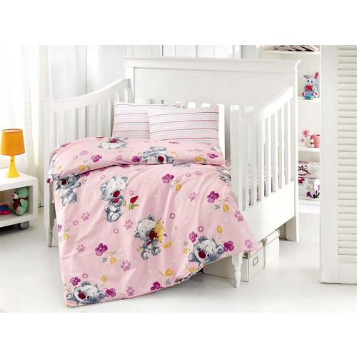 Детское белье в кроватку Altinbasak Puffy (розовое)