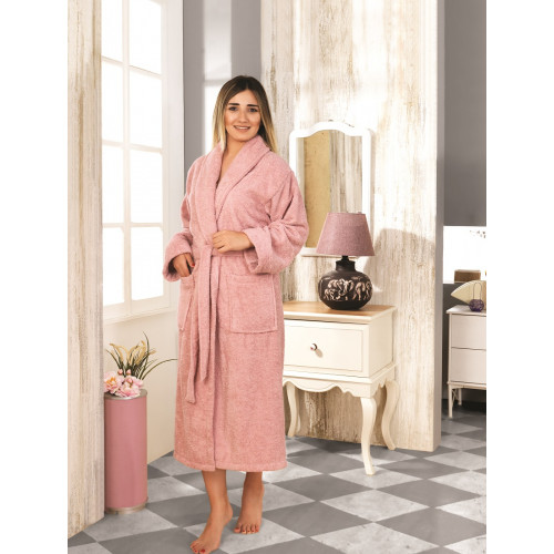 Karna Basic халат махровый (грязно-розовый)