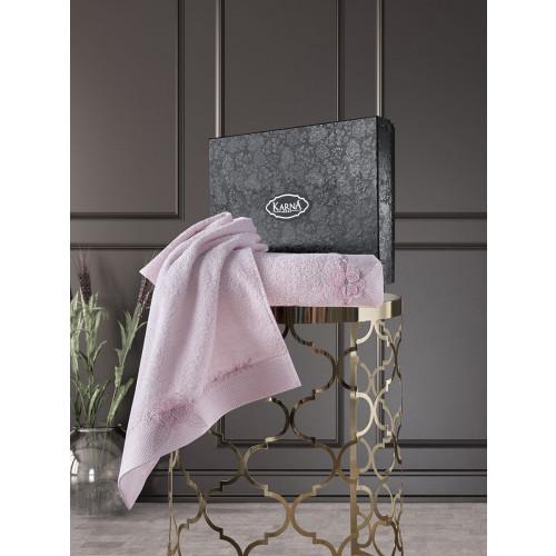 Набор полотенец Karna Siena (грязно-розовый, 2 предмета)