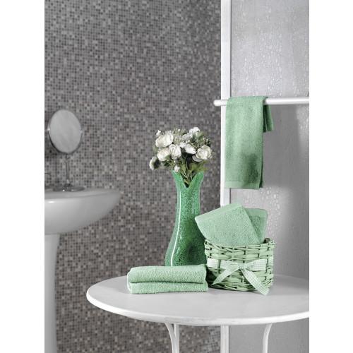 Набор салфеток Karna Twist зеленый (30x30, 5 предметов)