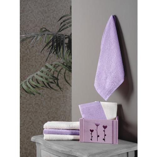 Набор салфеток Karna Flori фиолетовый (30x30, 6 предметов)
