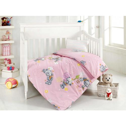 Детское белье в кроватку Altinbasak Yumak (розовое)