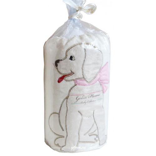 Детский плед Gelin Home Собачка (розовый) 85x100