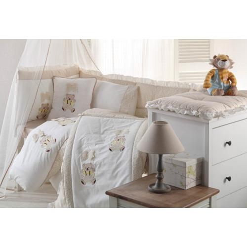 Детское белье в кроватку + покрывало Gelin BEBE бежевый