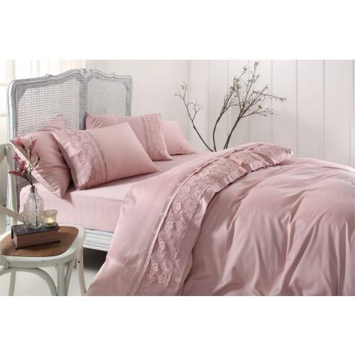 Свадебное постельное белье Gelin Home Cannes (розовое) евро