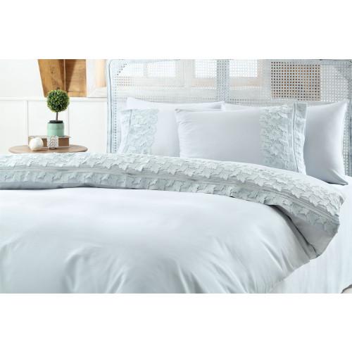 Свадебное постельное белье Gelin Home Esma (бирюзовое) евро