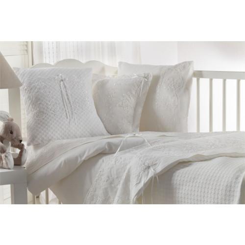 Детское белье в кроватку c вафельным покрывалом Gelin BEBE белое