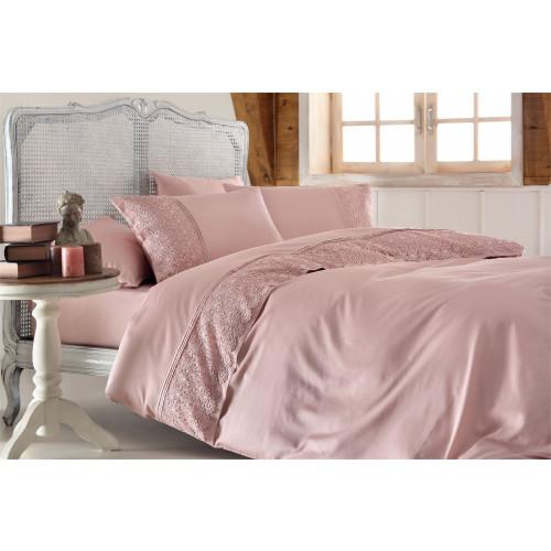 Свадебное постельное белье Marsilya (розовое) евро