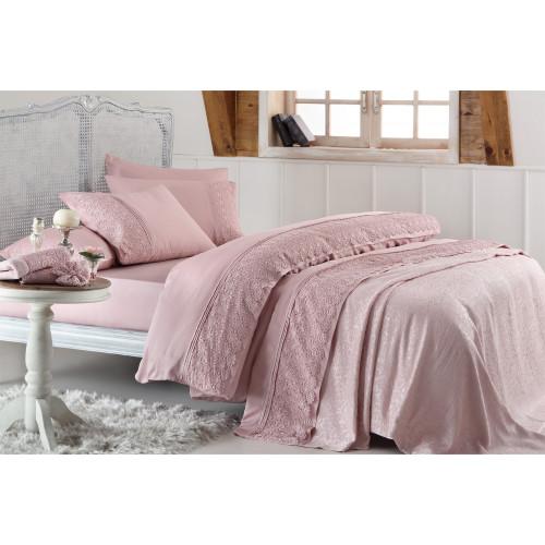 Свадебный набор Gelin Home Marsilya (розовый) евро