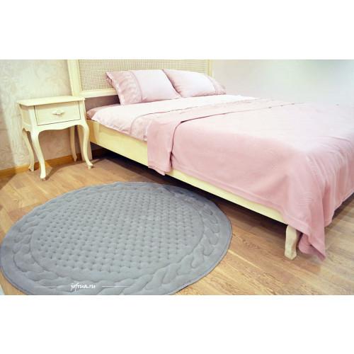 Коврик для ног Gelin Home Erguvan серый 120 см. (круглый)