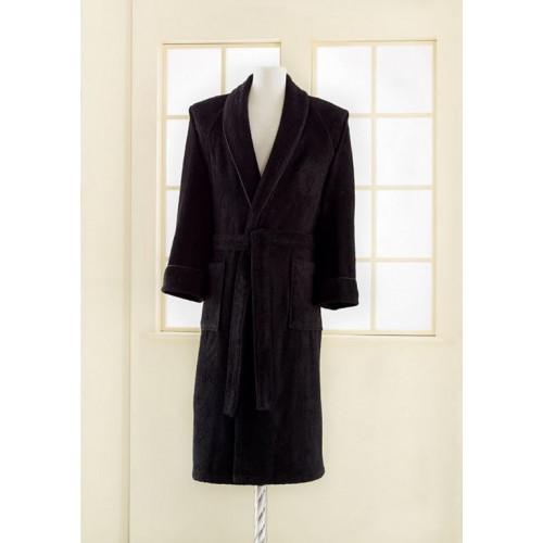 Халат мужской Soft Cotton Deluxe (черный)