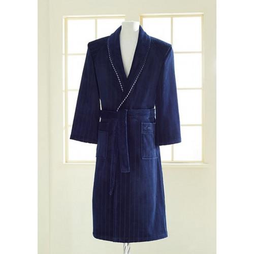 Халат мужской Soft Cotton Sharp (темно-синий)