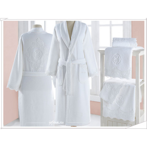 Халат женский Soft Cotton Diana (белый)