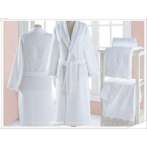 Халат женский Soft Cotton Diana (кремовый)