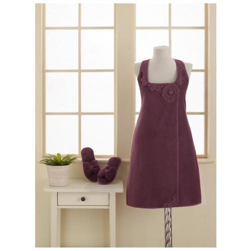 Набор для сауны женский Soft Cotton Iris (фиолетовый)