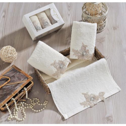 Набор салфеток Irya Pearly (кремовое) 30x50 (3 шт.)