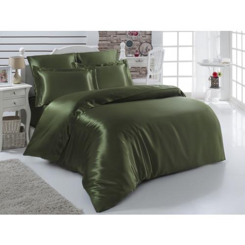 Постельное белье Karna Arin (зеленое) евро