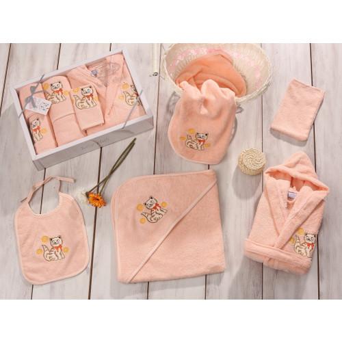 Банный набор Karna Baby Club на 1-3 года (5 предметов, абрикосовый)