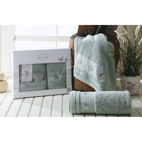 Набор полотенец Karna Bianca (зеленый, 2 предмета)