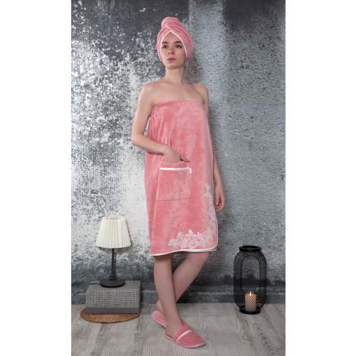 Набор для сауны женский Karna Delbin (пудра) размер S-L