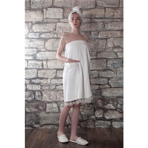 Набор для сауны женский Karna Evon (кремовый) размер S-L