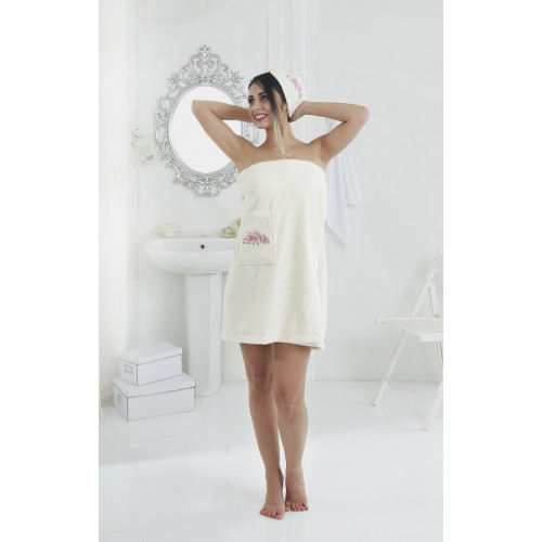 Набор для сауны женский Karna Pera (кремовый)