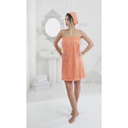 Набор для сауны женский Karna Pera (оранжевый)