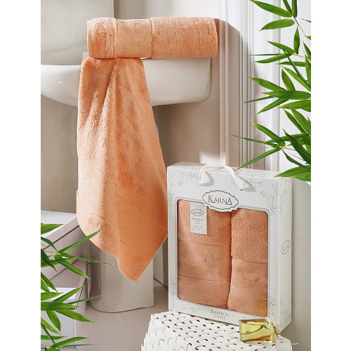 Набор полотенец Karna Pandora (коралловый, 2 предмета)