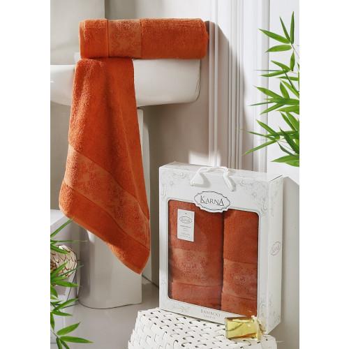Набор полотенец Karna Pandora (кирпичный, 2 предмета)