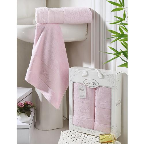 Набор полотенец Karna Pandora (светло-розовый, 2 предмета)
