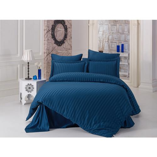 Постельное белье Karna Perla (синее) евро