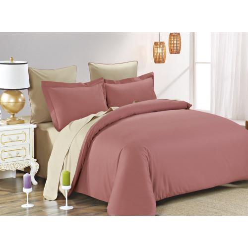Постельное белье Karna Sanford (грязно-розовый-бежевый)
